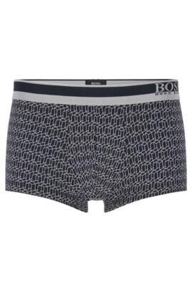 Körpernah geschnittene Boxershorts aus elastischem Baumwoll-Mix mit Modal, Dunkelblau