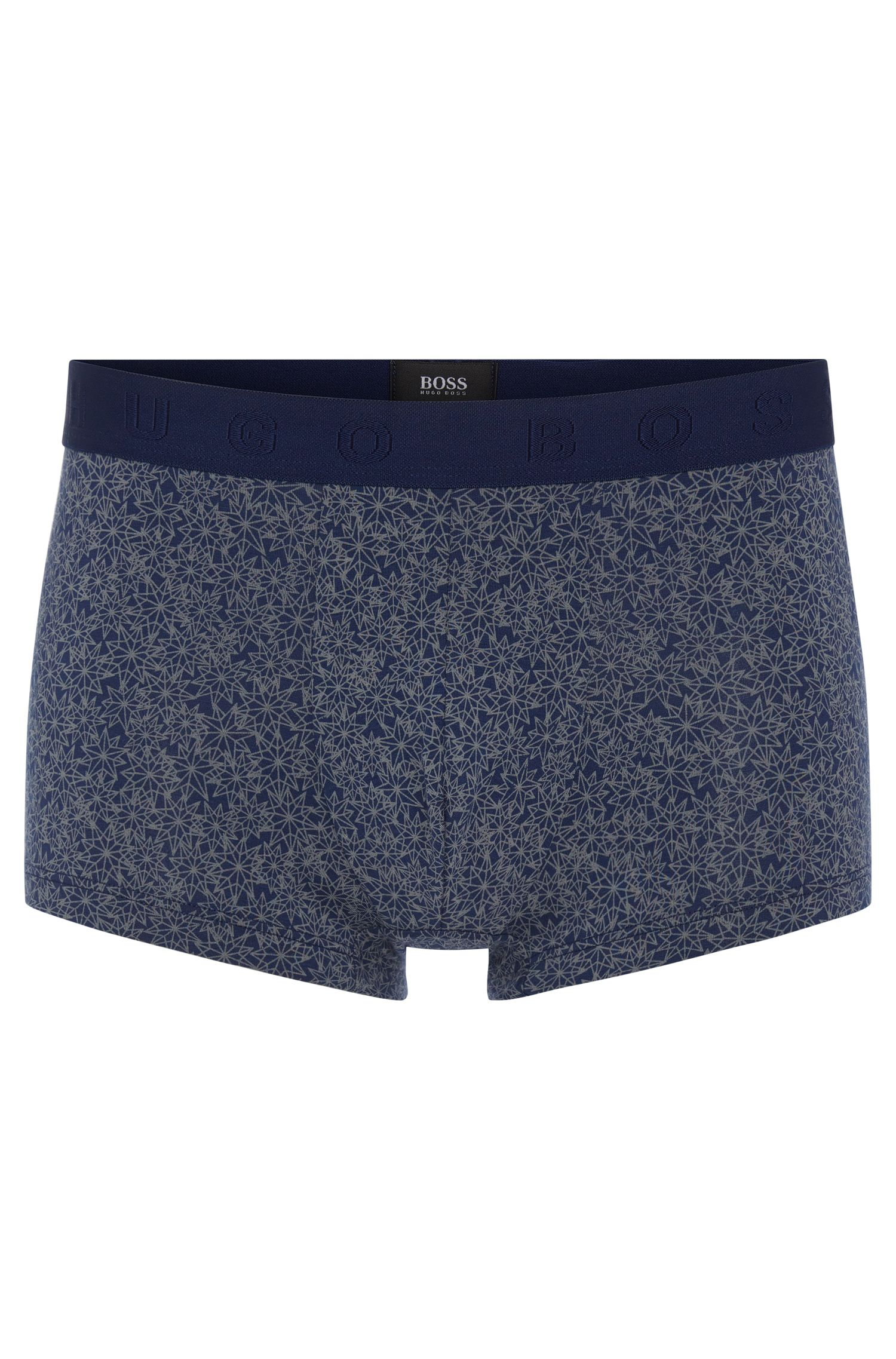Patterned boxer shorts in stretch cotton blend with modal: 'Trunk Microprint'