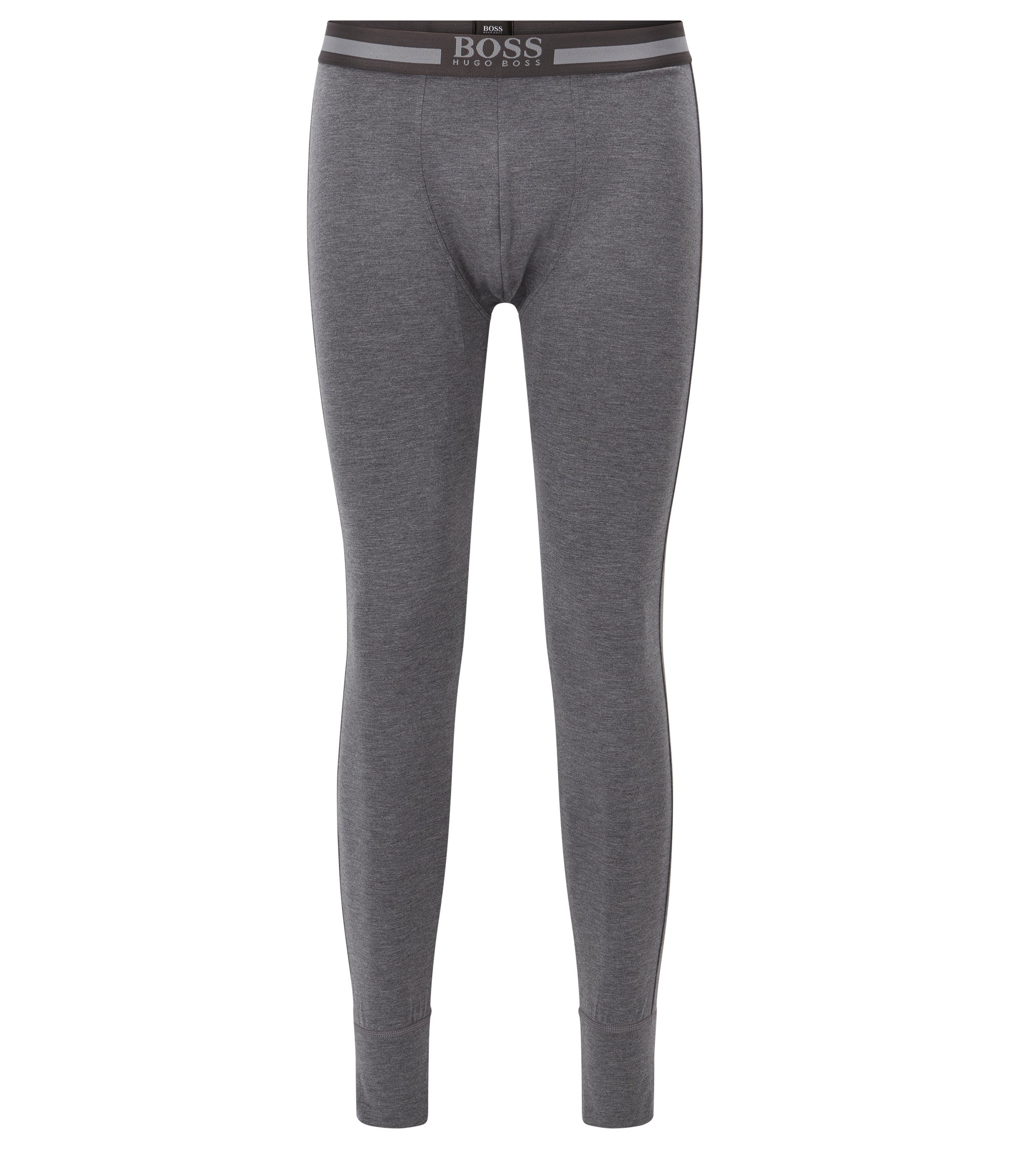 Stretch long johns with heat retention fabric, Anthracite