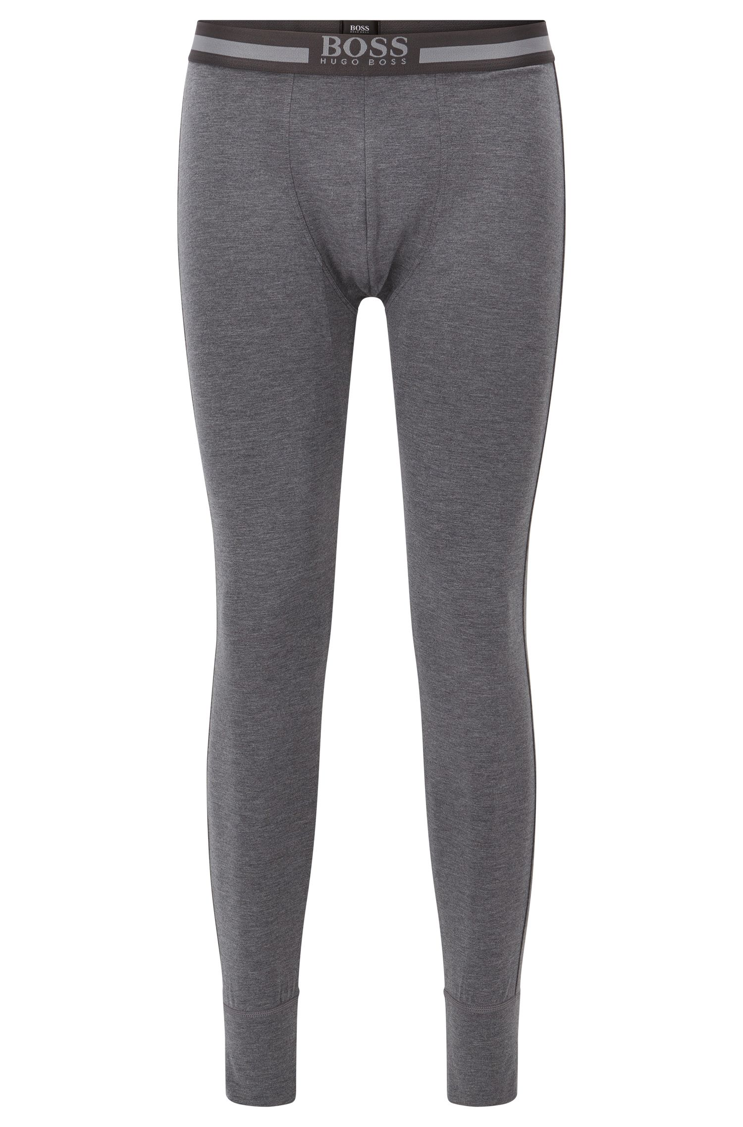 Stretch long johns with heat retention fabric