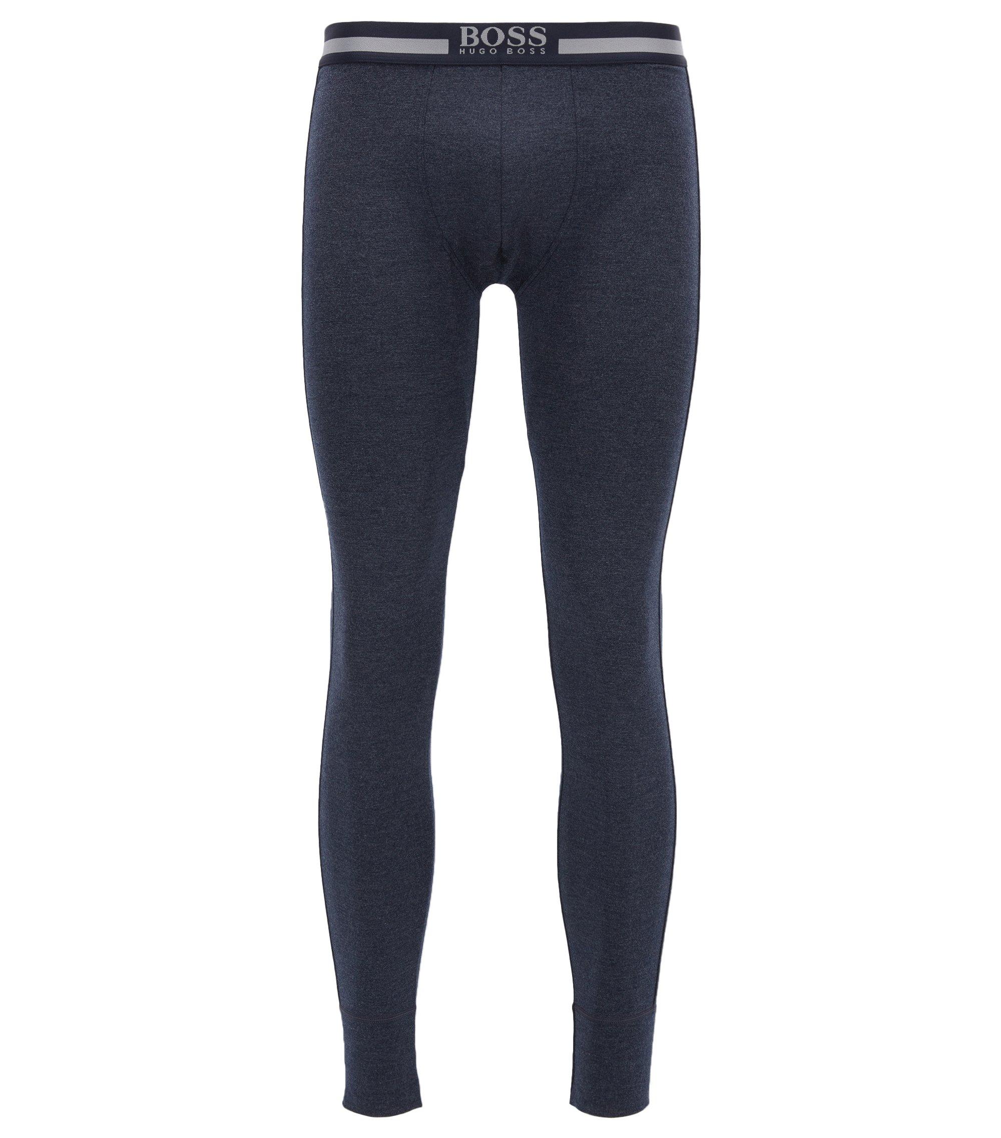 Elastische lange onderbroek met warmte-isolatie, Donkerblauw