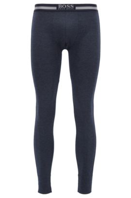 Stretch long johns with heat retention fabric, Dark Blue