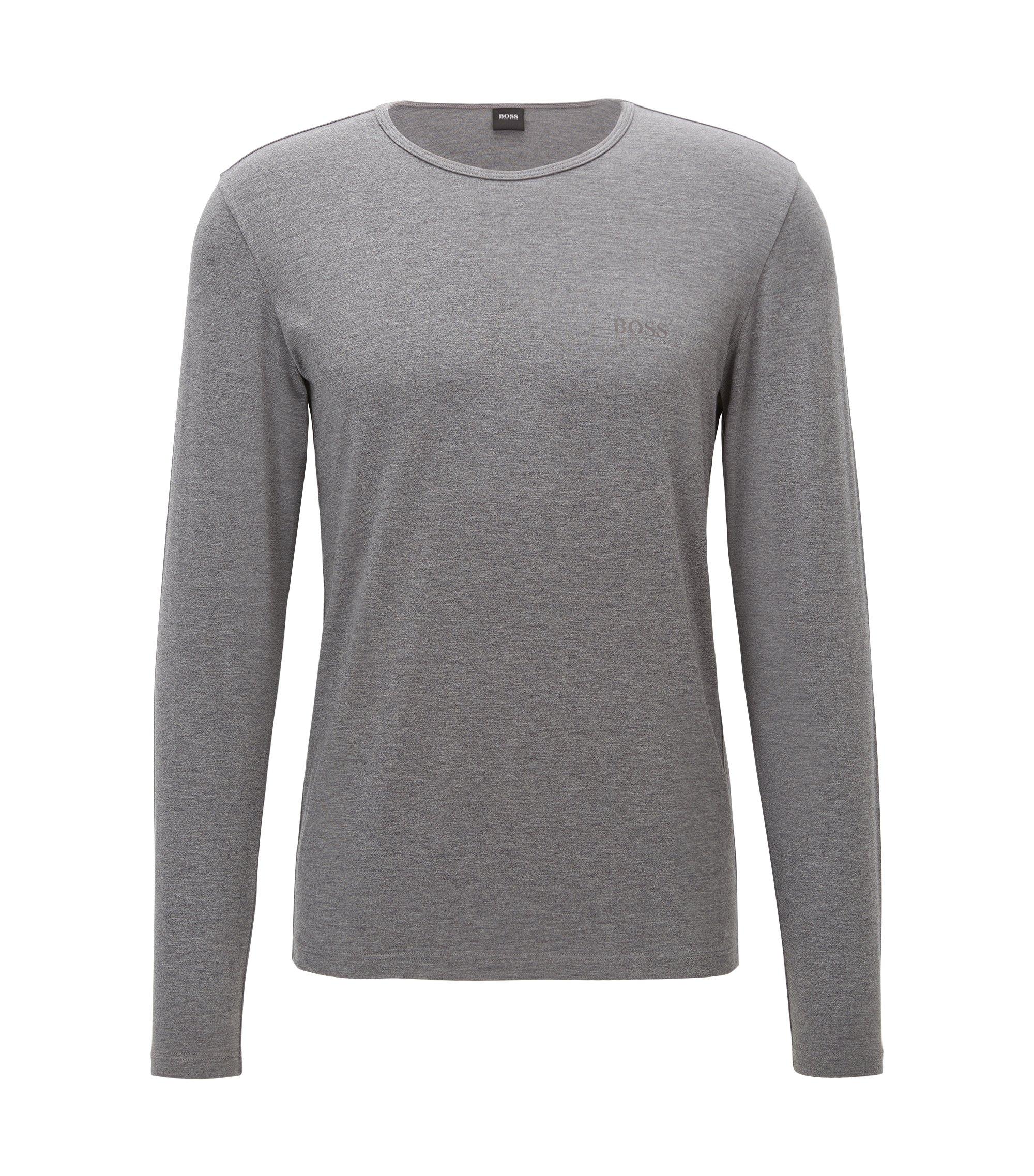 T-shirt a maniche lunghe in tessuto che conserva il calore, Grigio antracite
