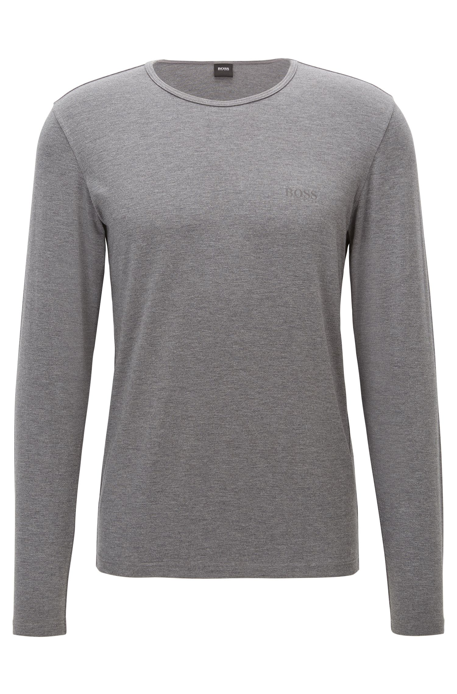 Long-sleeved T-shirt in heat-retaining fabric