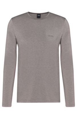 T-shirt manches longues chiné à fonction thermorégulatrice : « LS-Shirt RN Thermal+ », Gris sombre
