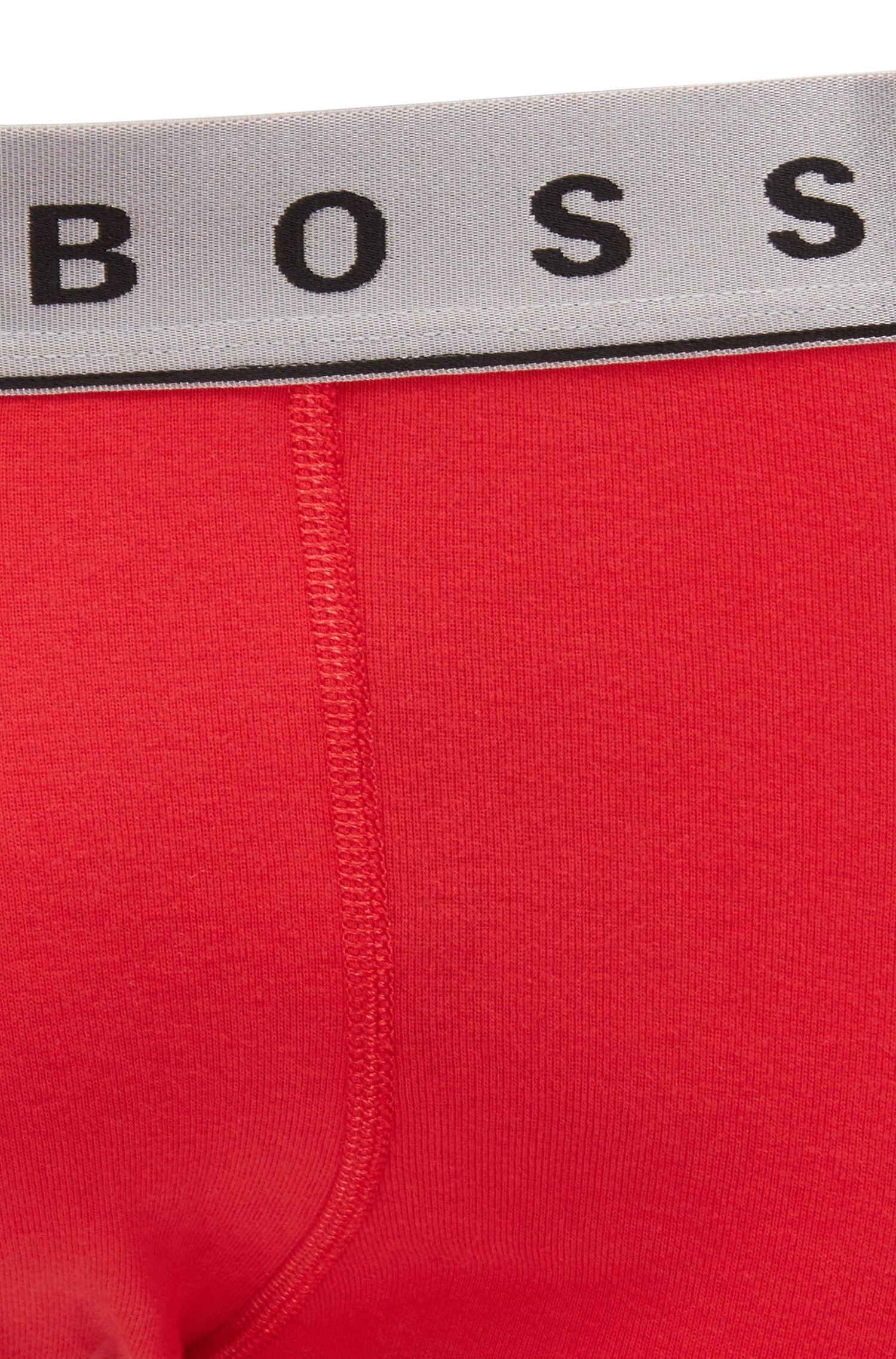 Set regalo composto da due paia di boxer in cotone con vita dall'effetto metallizzato