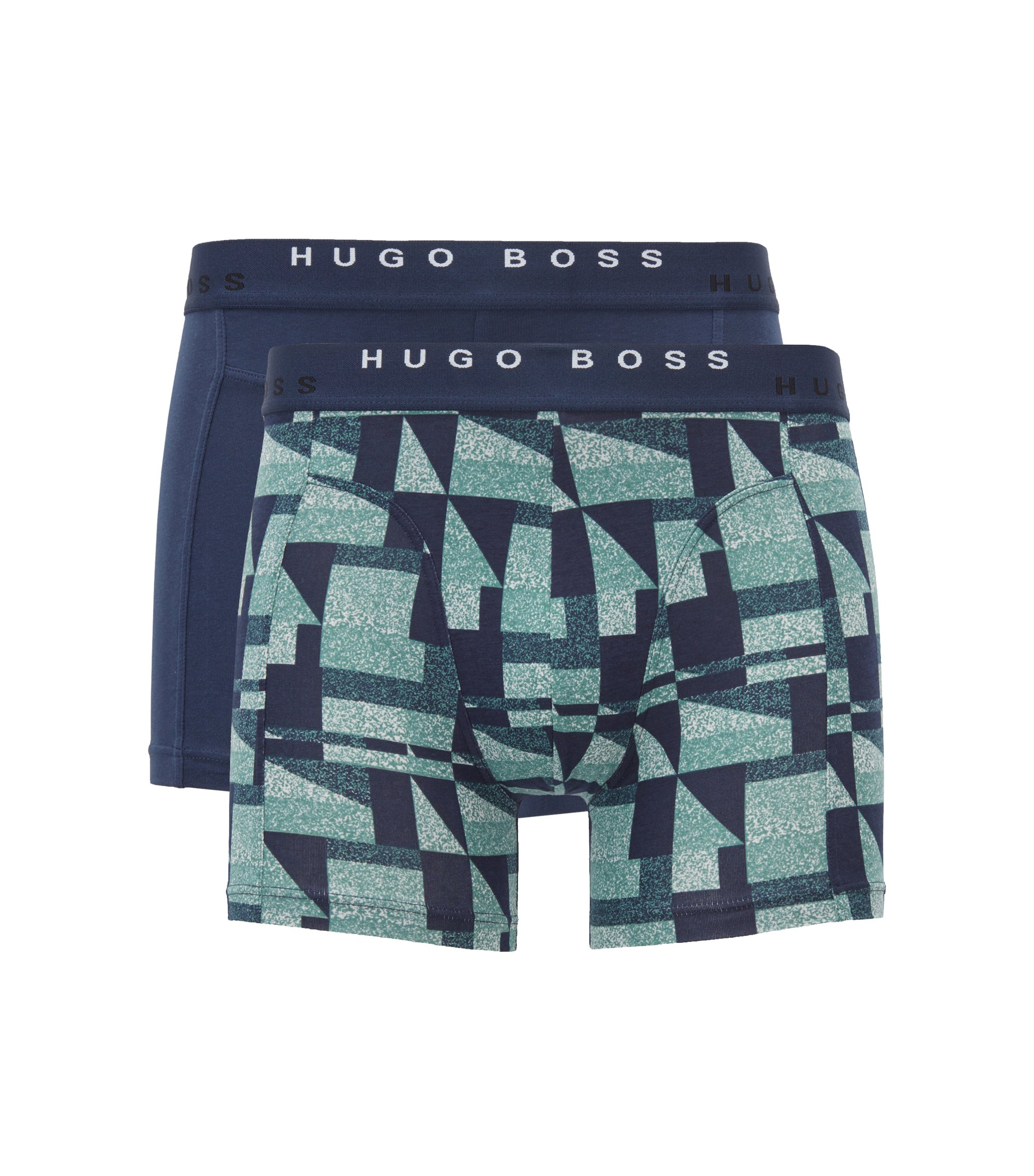 Two-pack of boxer shorts in cotton, Dark Blue