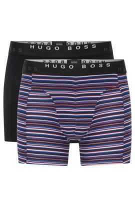 Boxershorts aus elastischer Baumwolle im Zweier-Pack, Hellblau