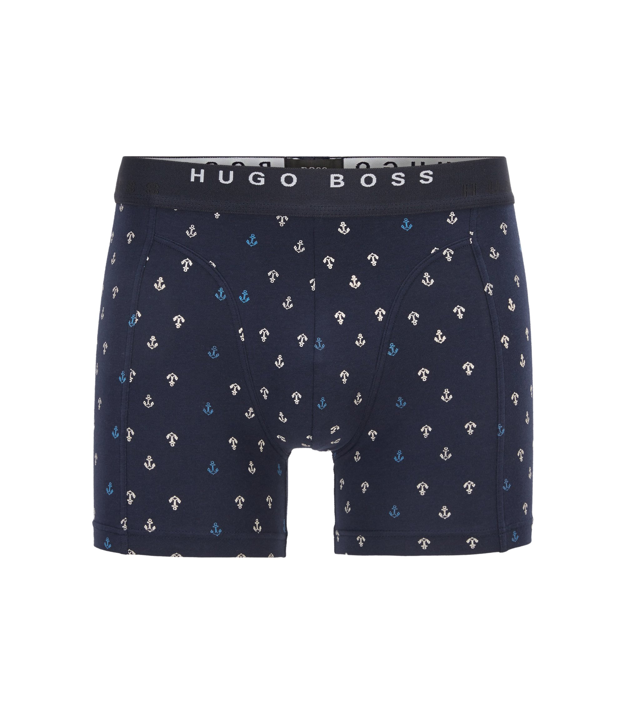 Two-pack of boxer shorts in cotton, Blue