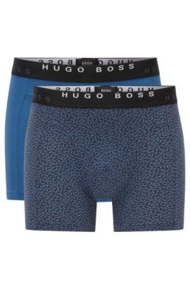Lot de deux boxers en coton, Bleu vif