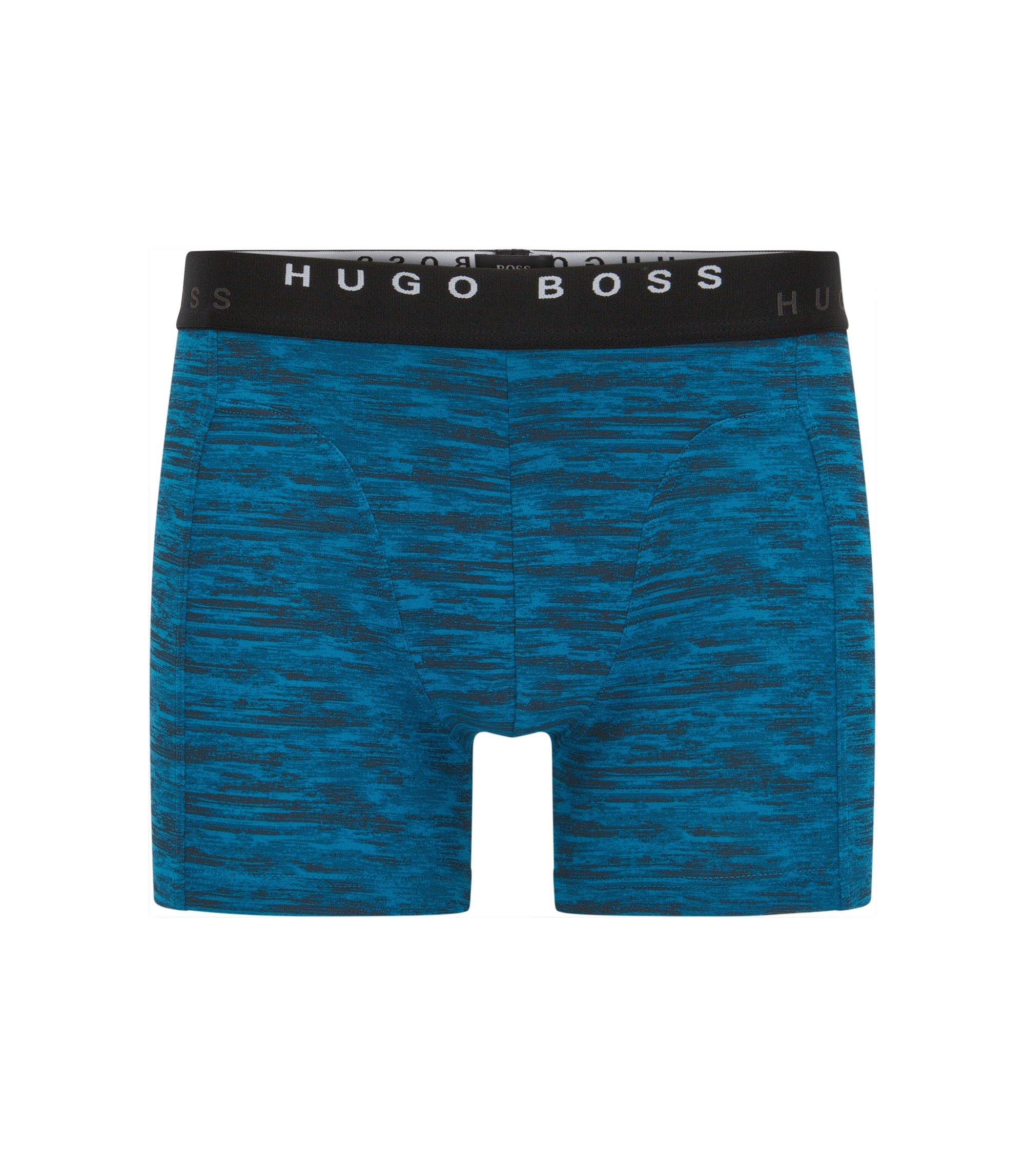 Paquete de dos calzoncillos boxer en algodón, Azul