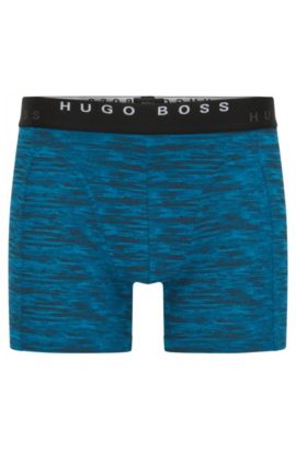 Two-pack of boxer shorts in cotton, Open Blue