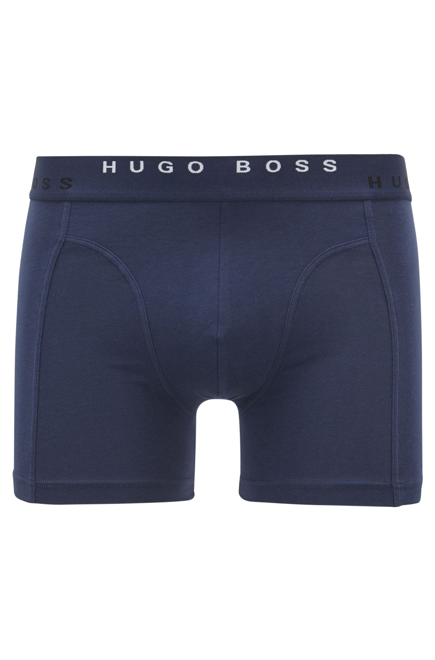 Two-pack of boxer briefs in stretch-cotton jersey, Dark Blue
