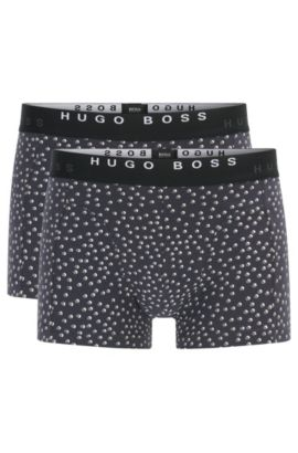 Two-pack of boxer shorts in cotton, Open Grey