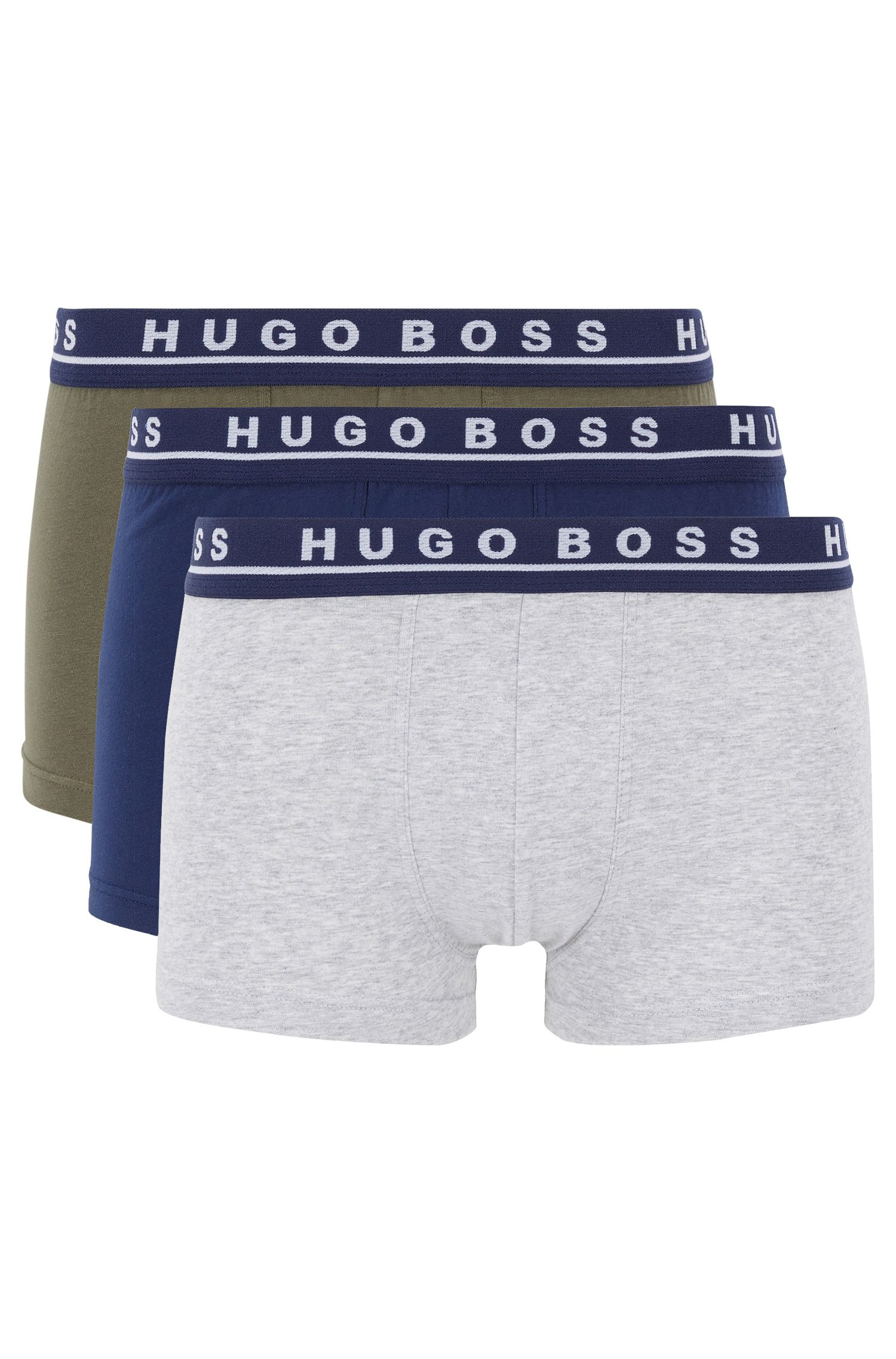 Boxershorts aus Stretch-Baumwolle im Dreier-Pack