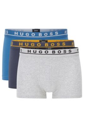 Three-pack of stretch trunks in cotton, Patterned