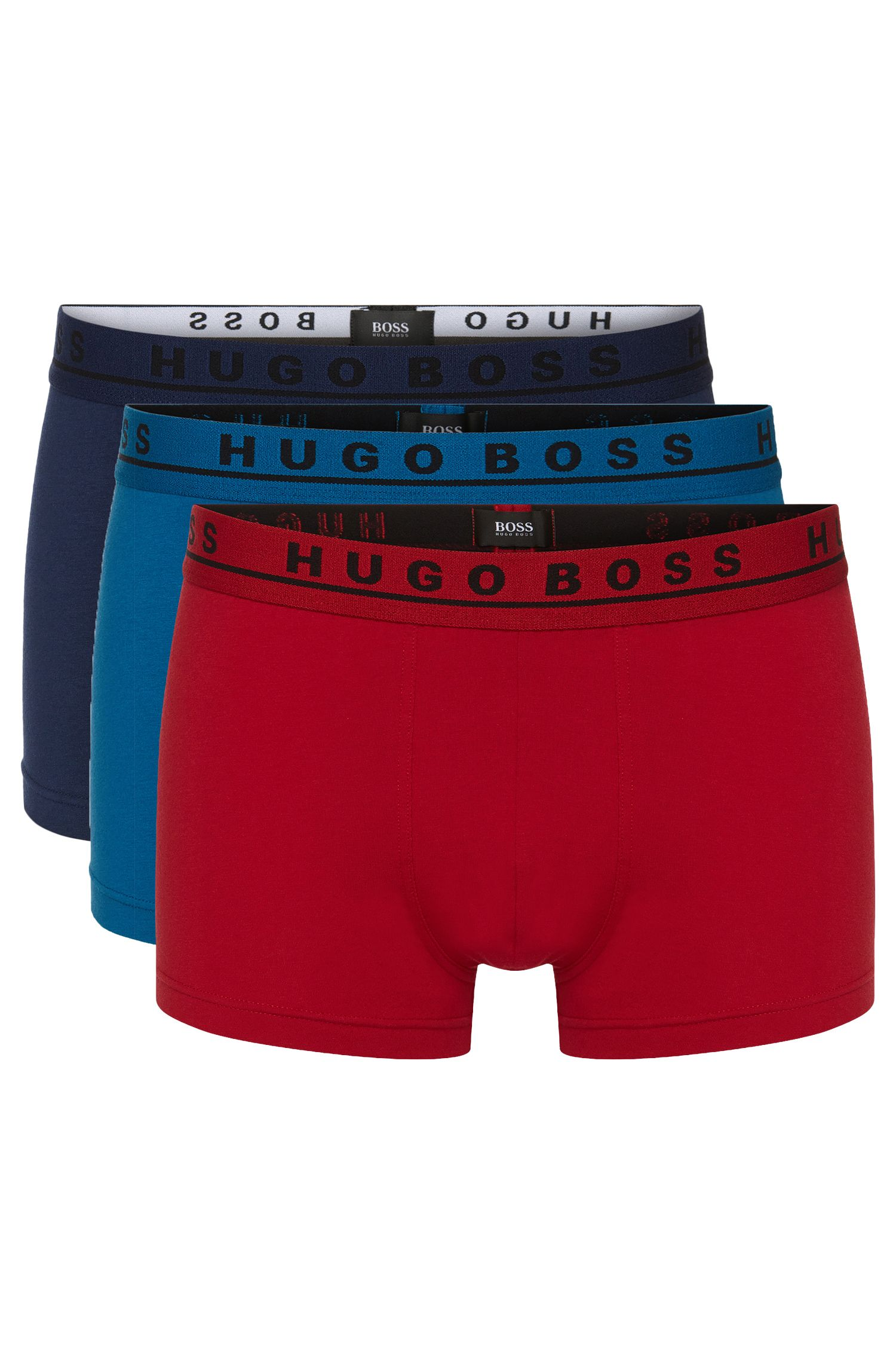 Lot de trois boxers avec logo sur la ceinture