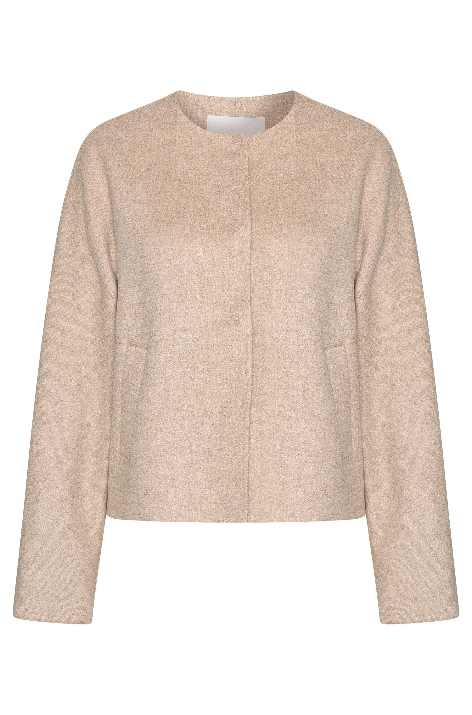 Blouson en laine mélangée avec patte de boutonnage invisible: «Ketsy»
