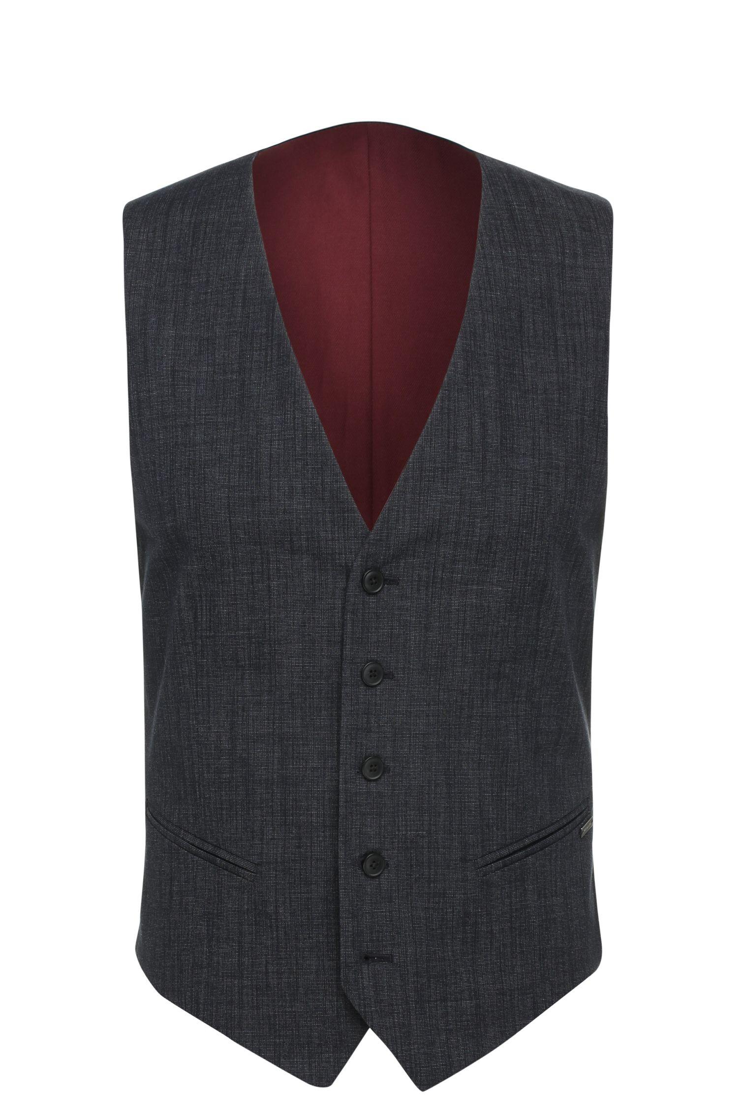 Chaleco slim fit en mezcla de algodón con textura: 'Bacer1BS'