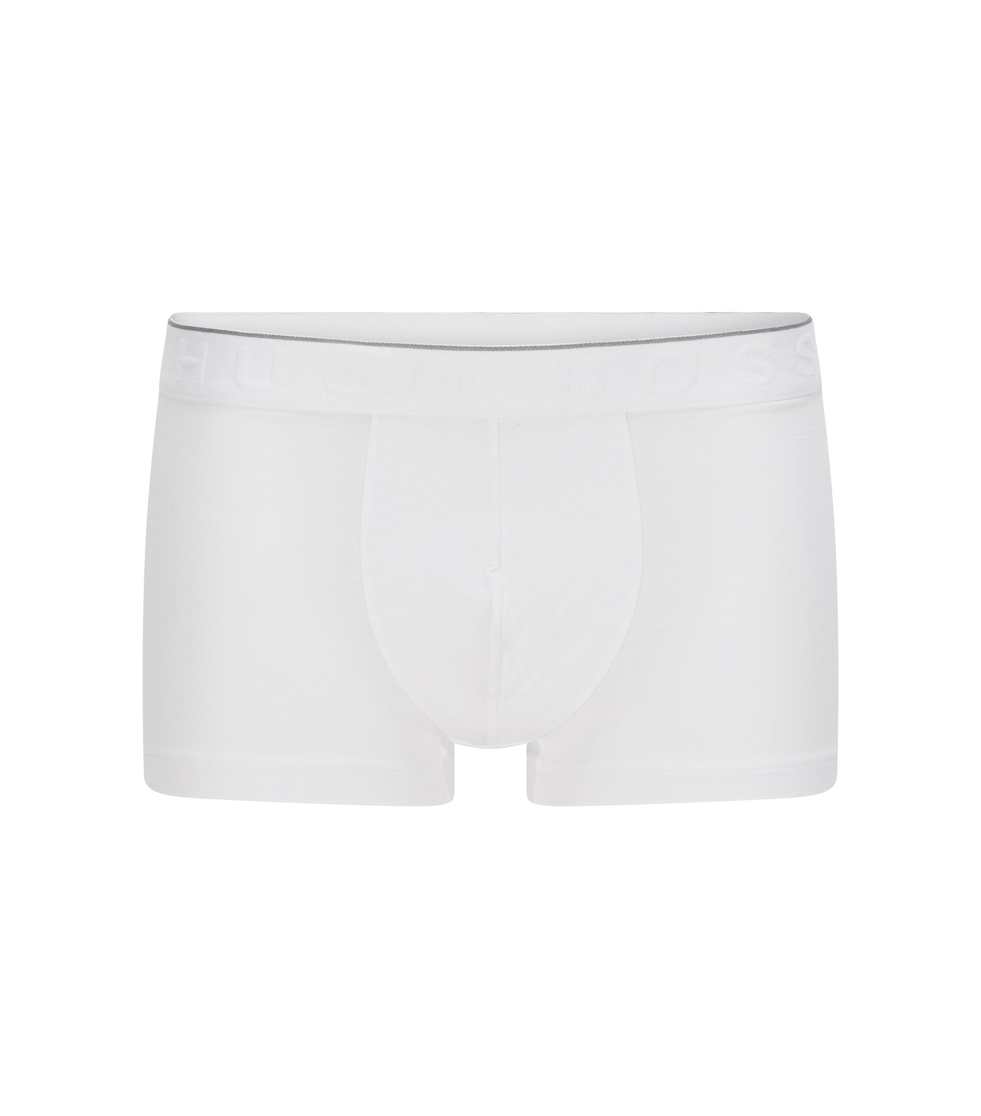 Travel Line boxer shorts in stretch modal blend with lyocell: 'Trunk Seacell', White