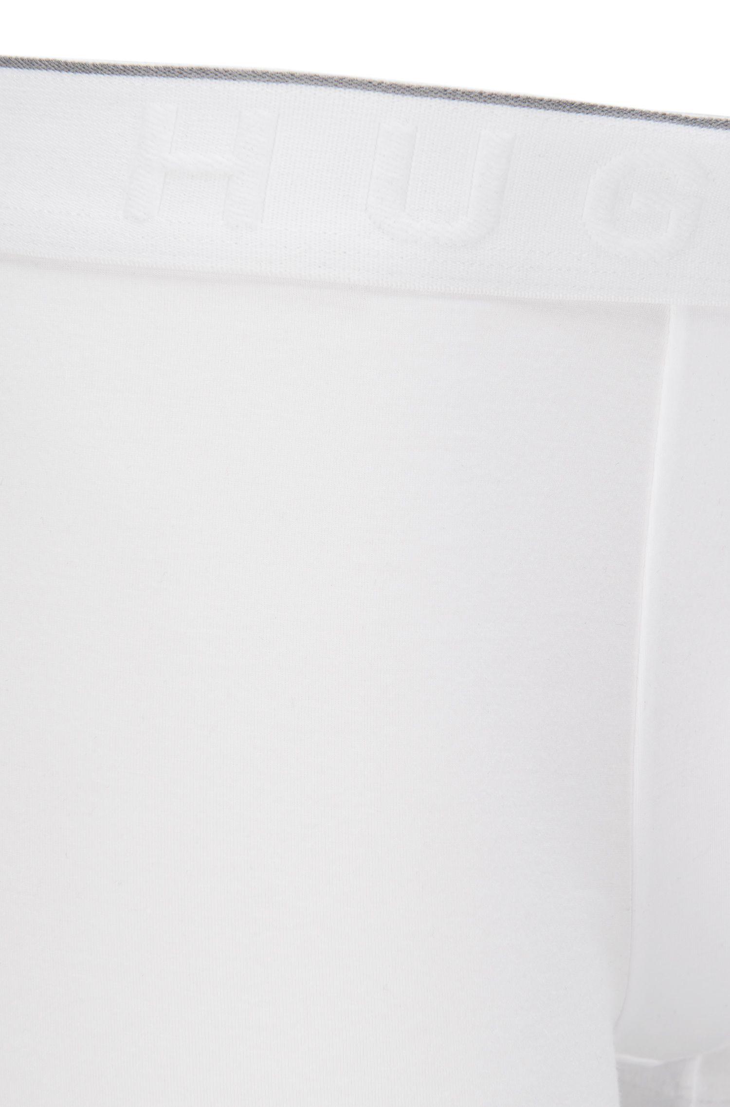 Boxer Travel Line in misto modal elasticizzato con lyocell: 'Trunk Seacell', Bianco