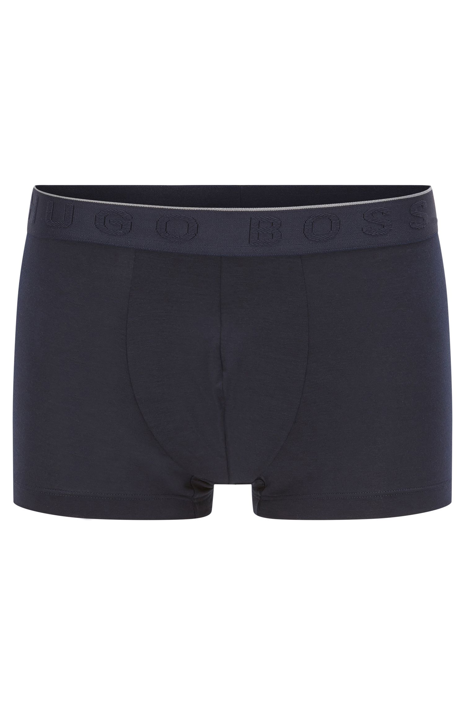 Travel Line boxer shorts in stretch modal blend with lyocell: 'Trunk Seacell', Dark Blue