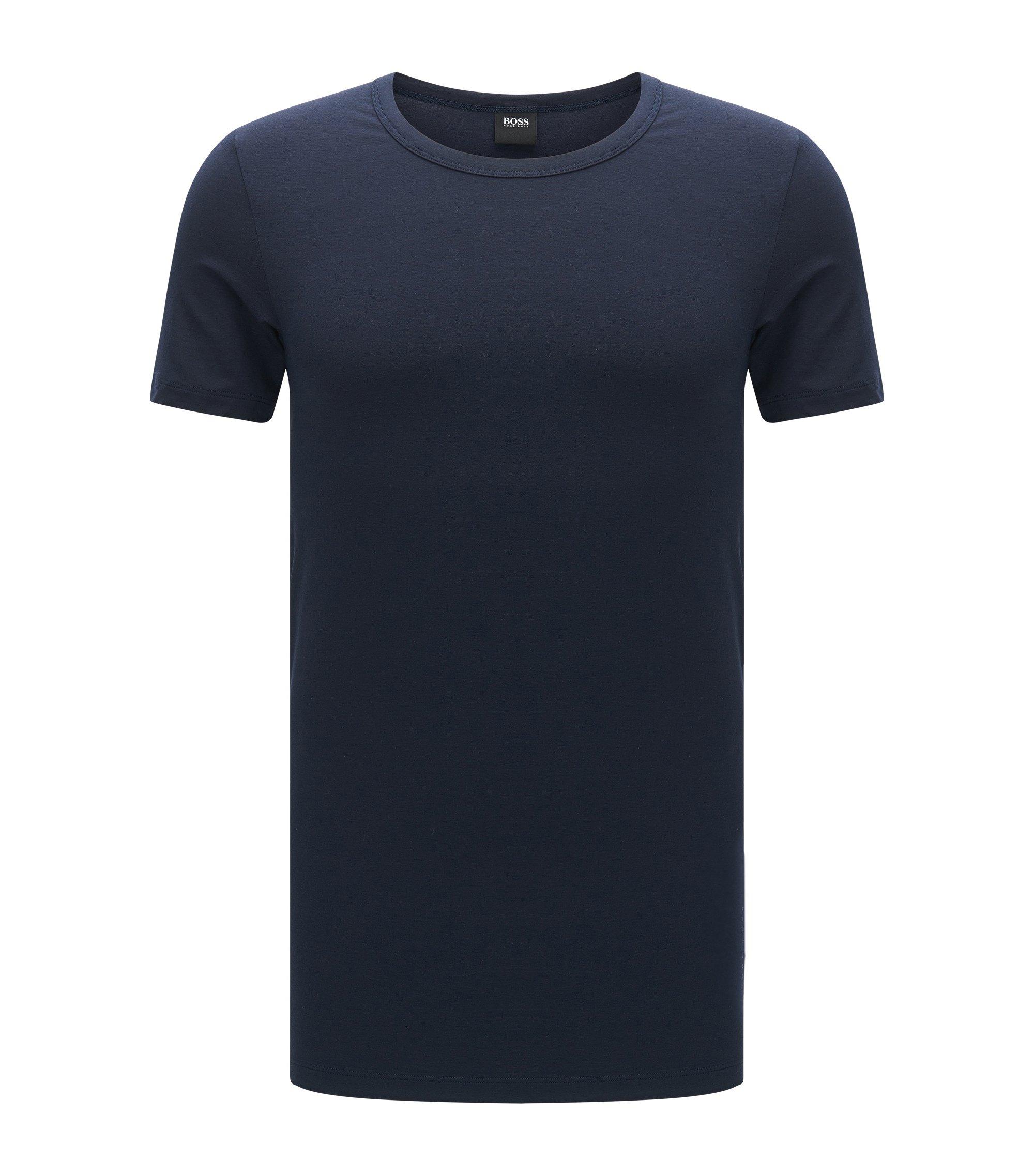 T-shirt Slim Fit en modal respirant mélangé à de l'élasthanne: «T-ShirtRNSeacell», Bleu foncé