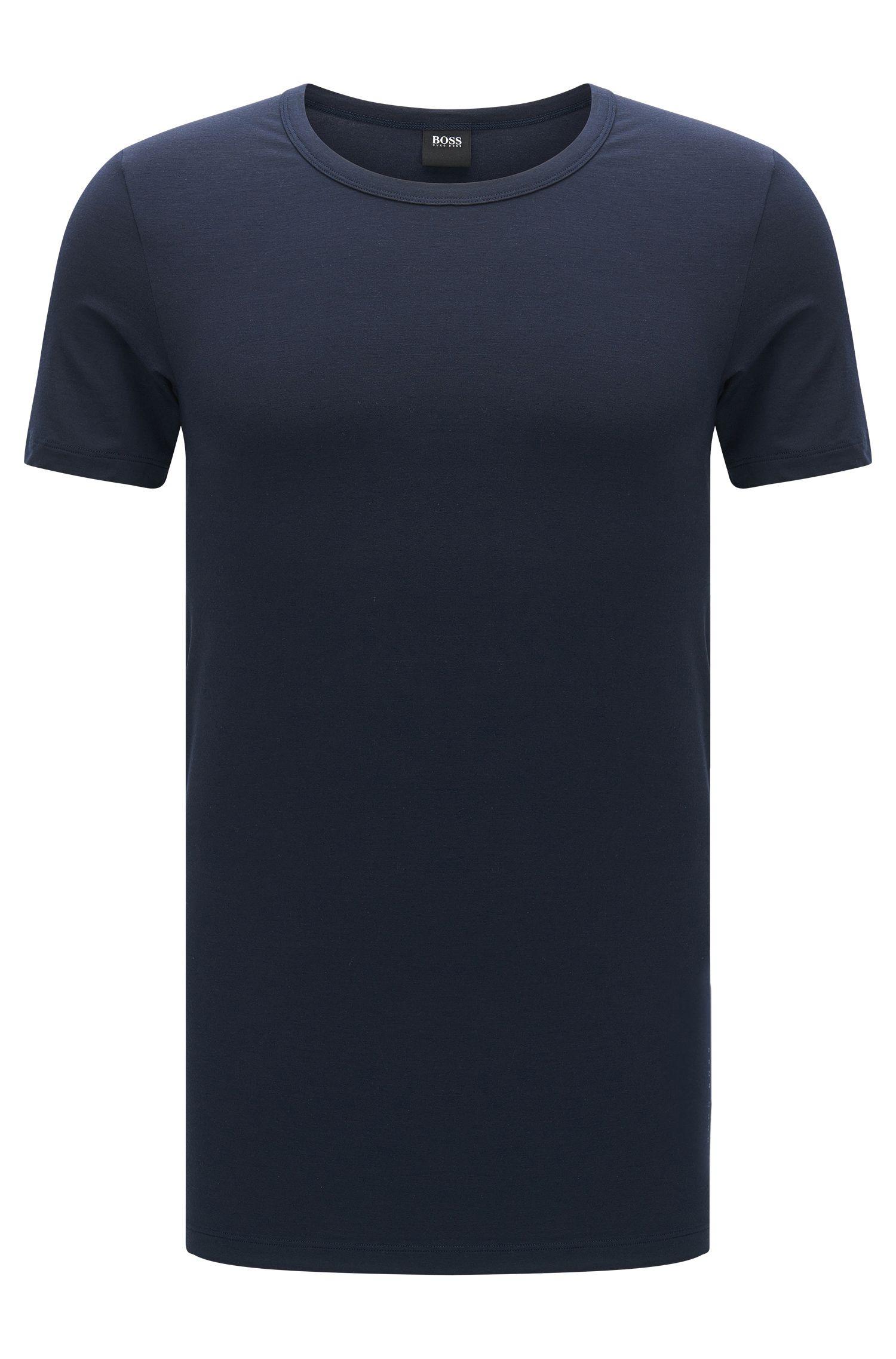 T-shirt slim fit in misto modal traspirante con elastan: 'T-Shirt RN Seacell'