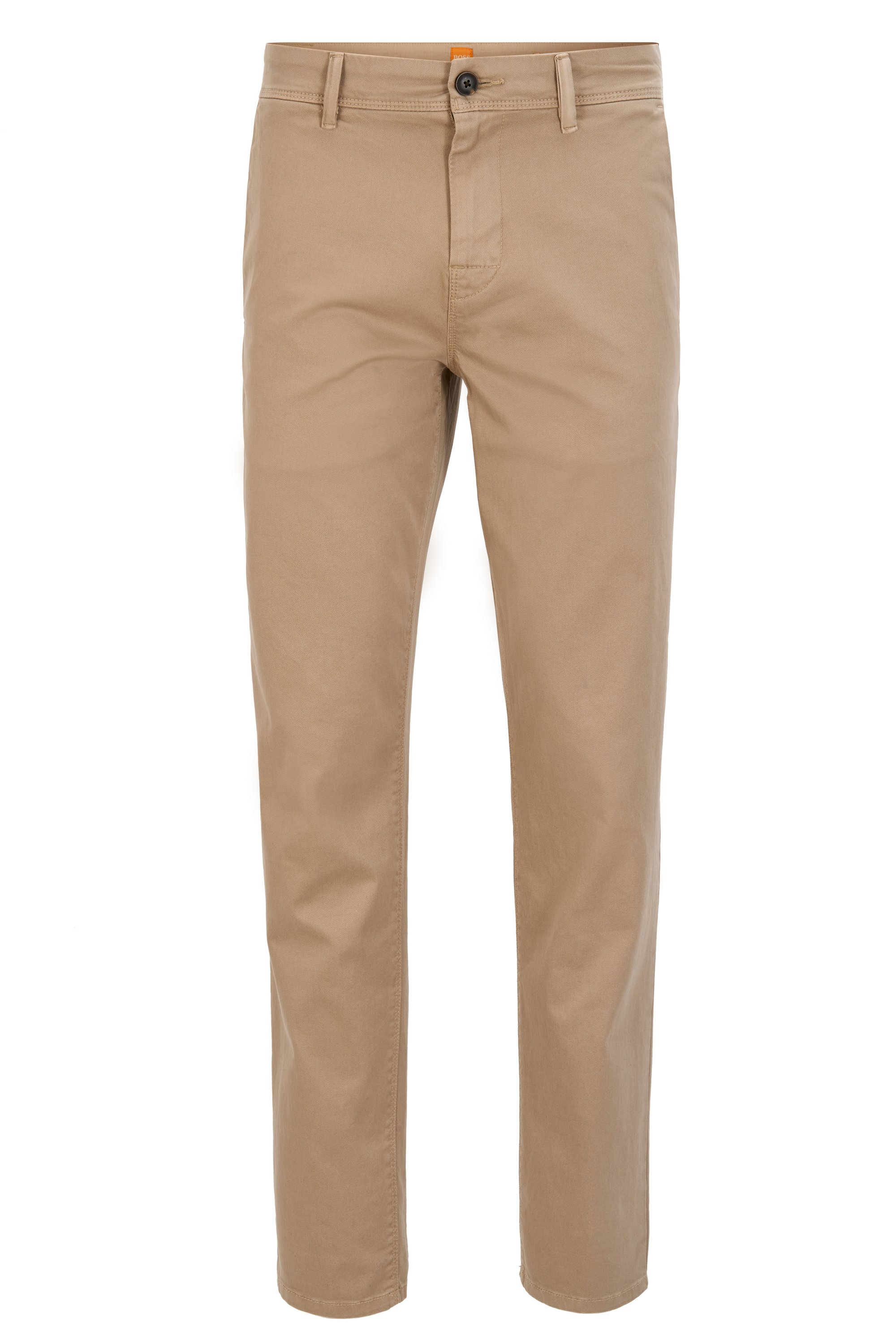 Tapered-Fit Hose aus Stretch-Baumwolle, Beige