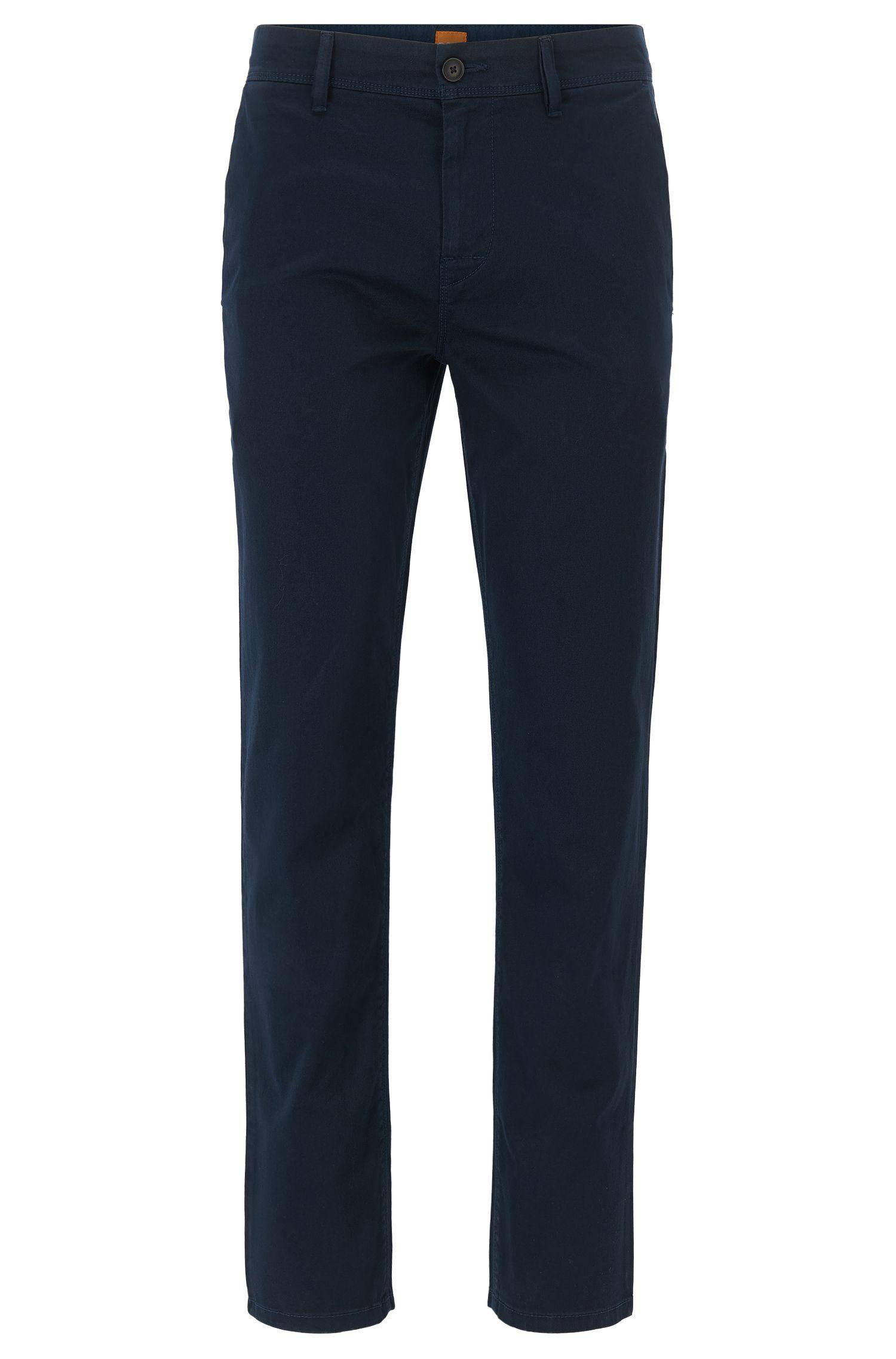 Pantalon Tapered Fit en coton stretch