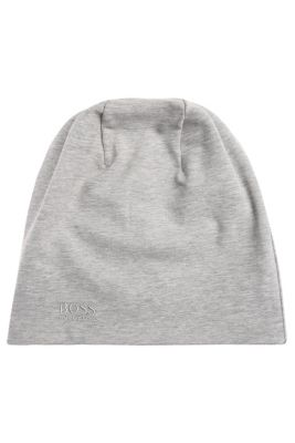 Aan twee kanten te dragen beanie van elastisch katoen: 'Beanie-jersey'