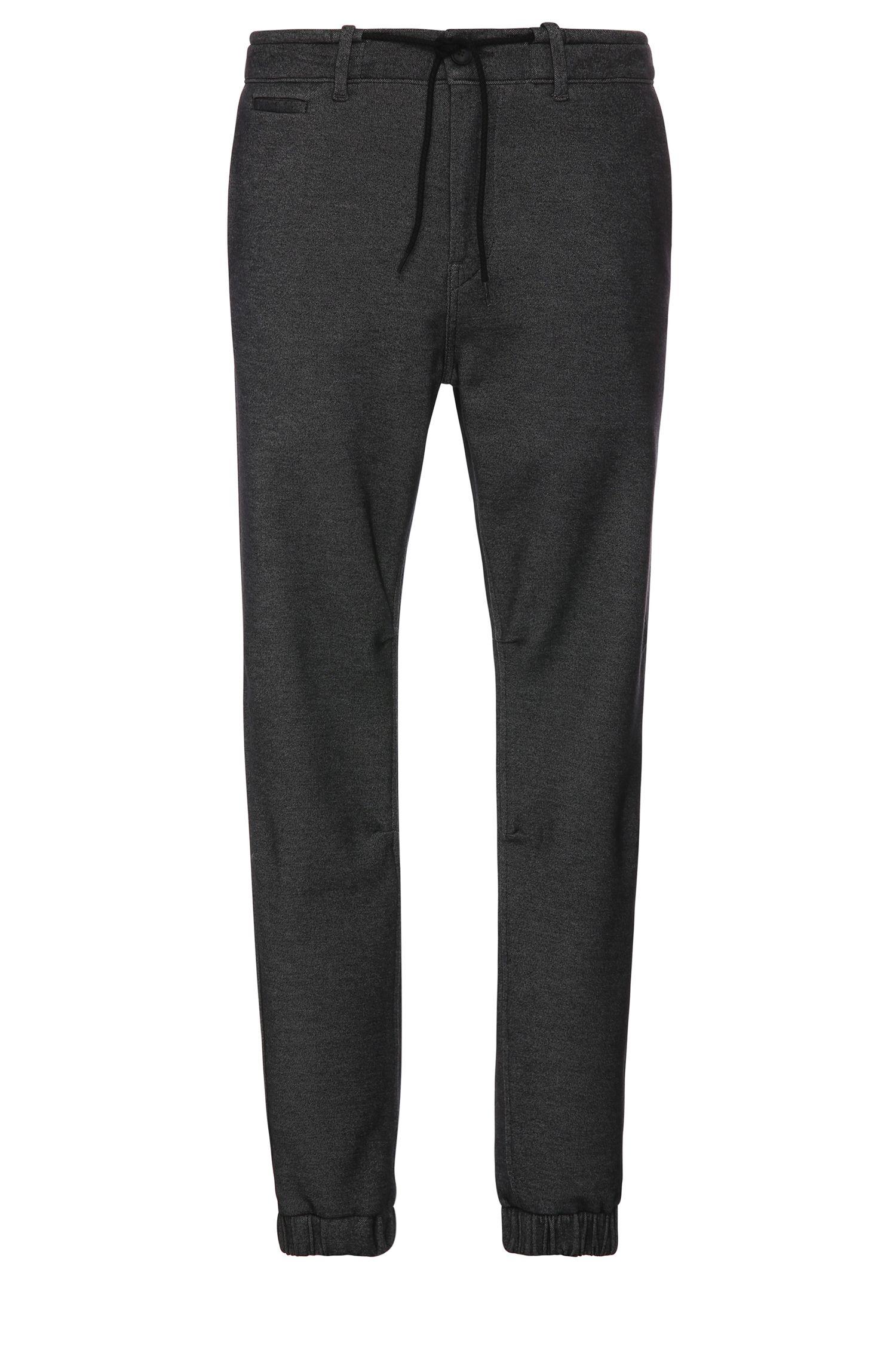 Pantalon Tapered Fit en coton mélangé, de style pantalon de jogging: «Siman2-W»