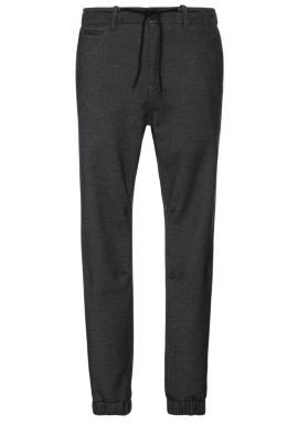 Tapered-fit trousers in cotton blend in jogger look: 'Siman2-W', Light Grey