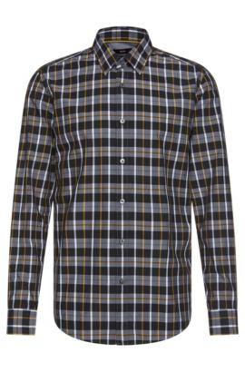 Chemise Regular Fit à carreaux, en coton: «Lukas_34», Vert