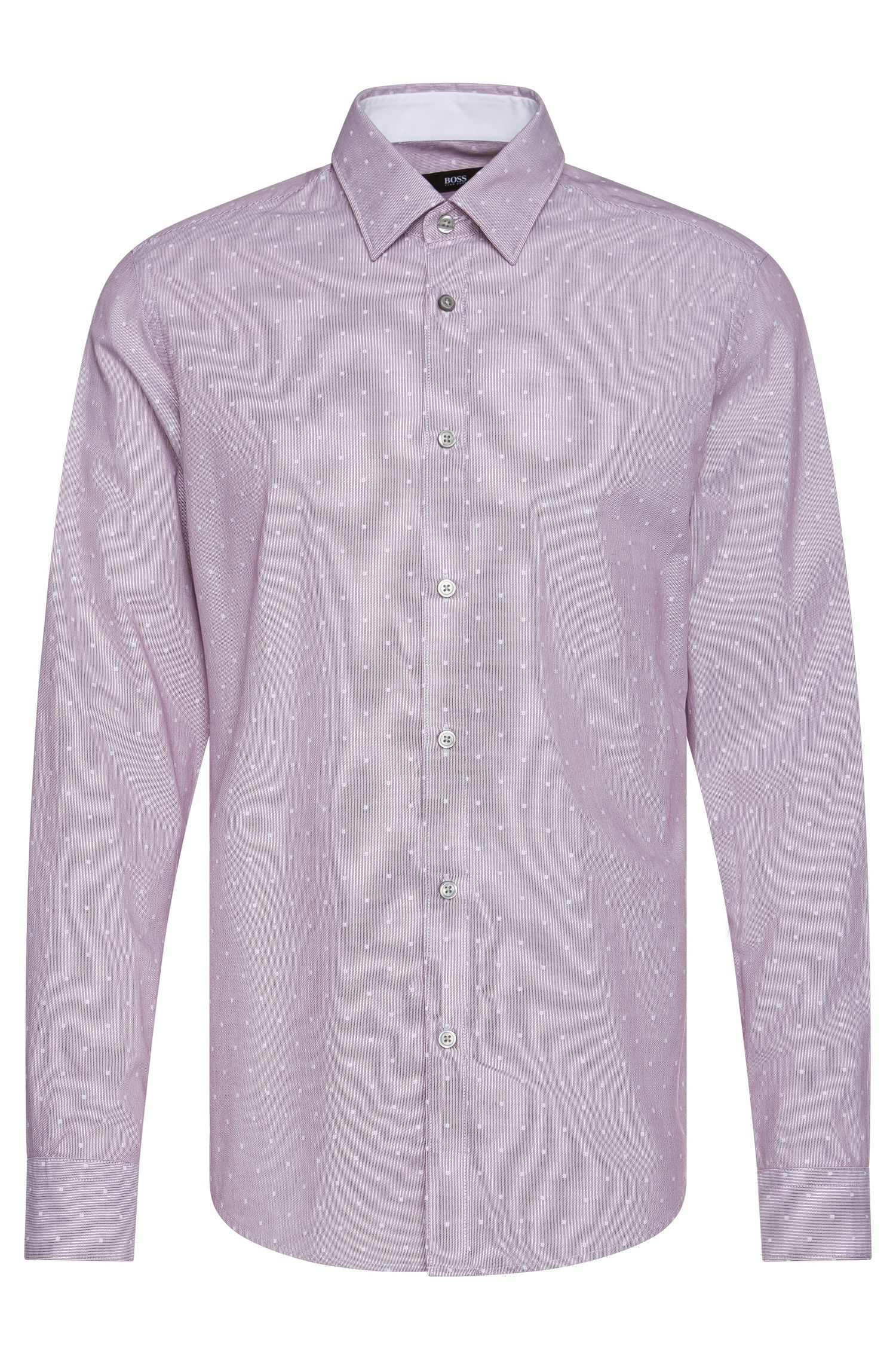 Finely striped regular-fit shirt in cotton: 'Lukas_37'