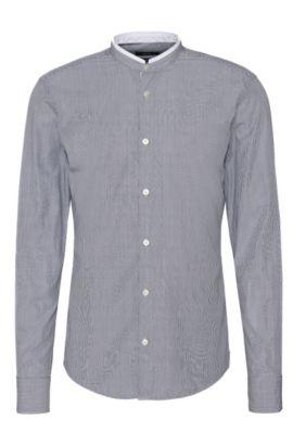 Gestreiftes Slim-Fit Hemd aus Baumwolle: 'Rab_37F', Dunkelblau