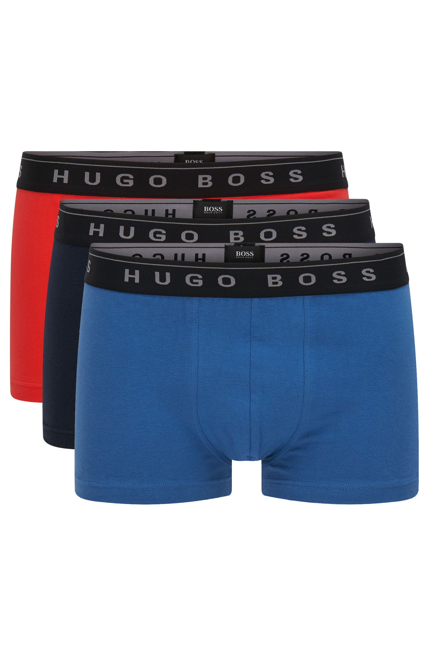 Lot de 3 boxers unis en coton stretch : « Trunk 3P Special »