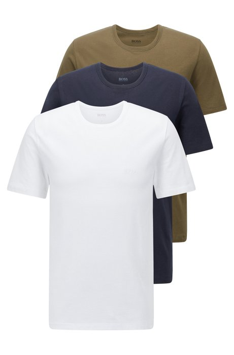 Three-pack of regular-fit cotton T-shirts, Green
