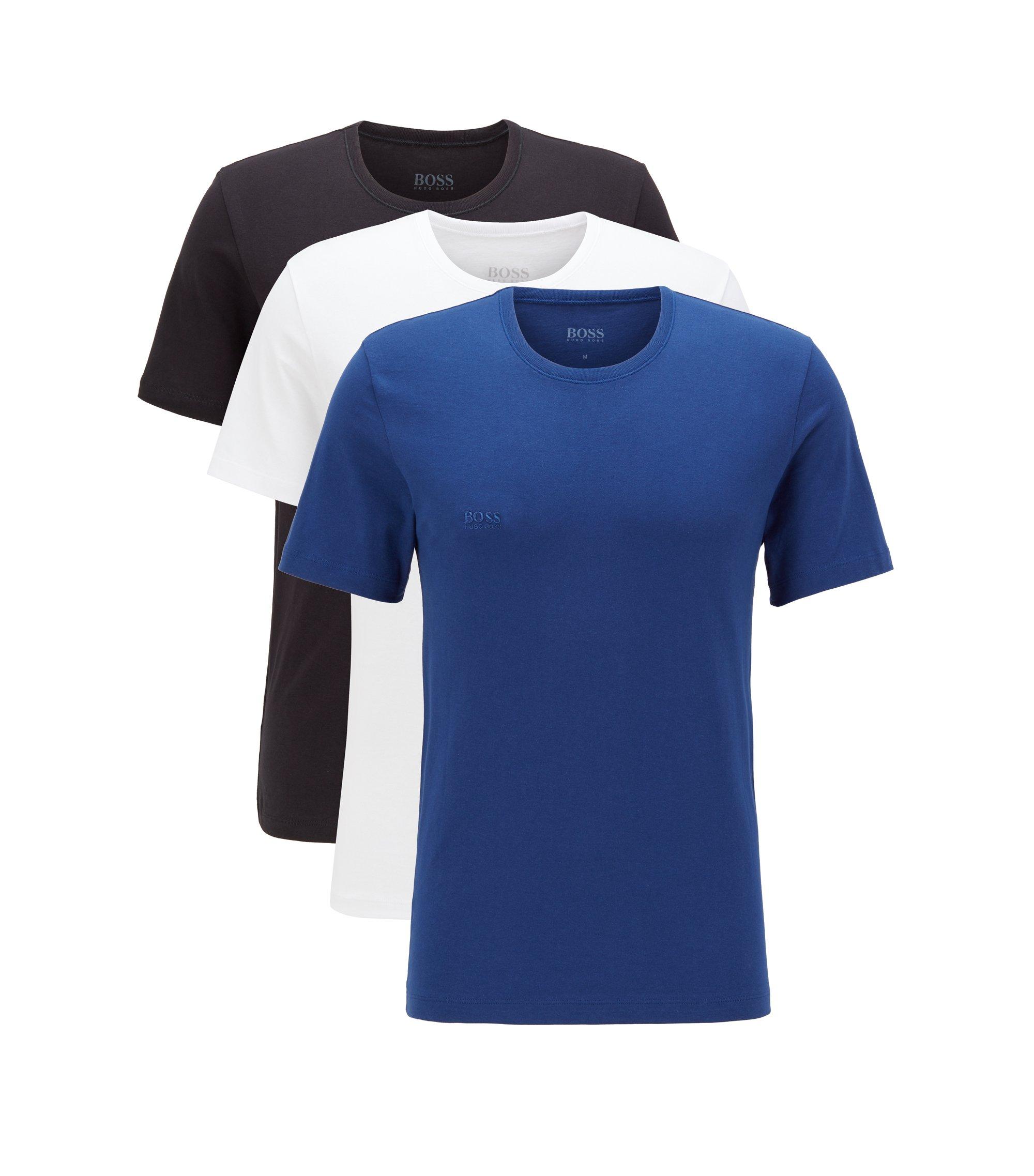 Paquete de tres camisetas regular fit en algodón, Azul