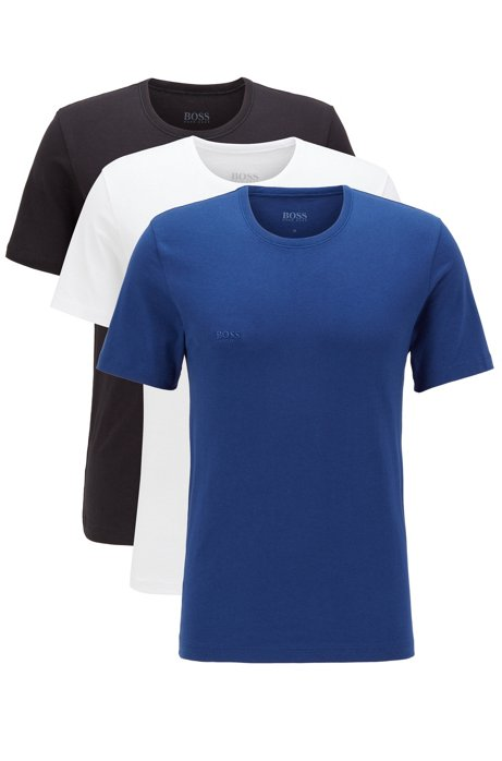 Three-pack of regular-fit cotton T-shirts, Blue