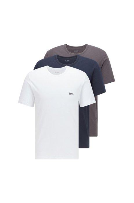 Set van drie paar regular-fit T-shirts van katoen, Bedrukt