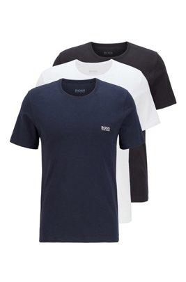 Three-pack of regular-fit cotton T-shirts, Dark Blue