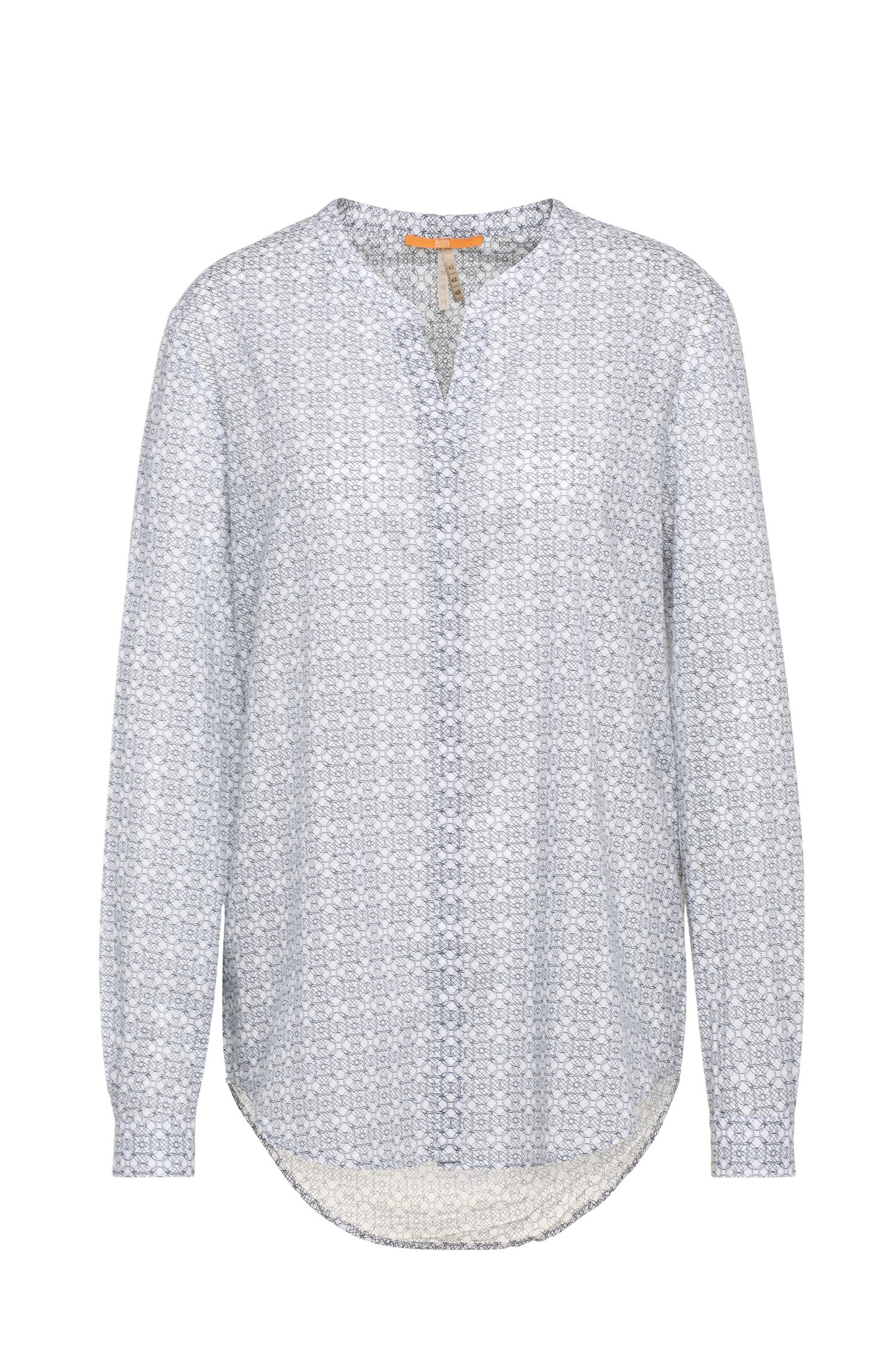 Patterned cotton blouse in tunic style: 'Efelize9'