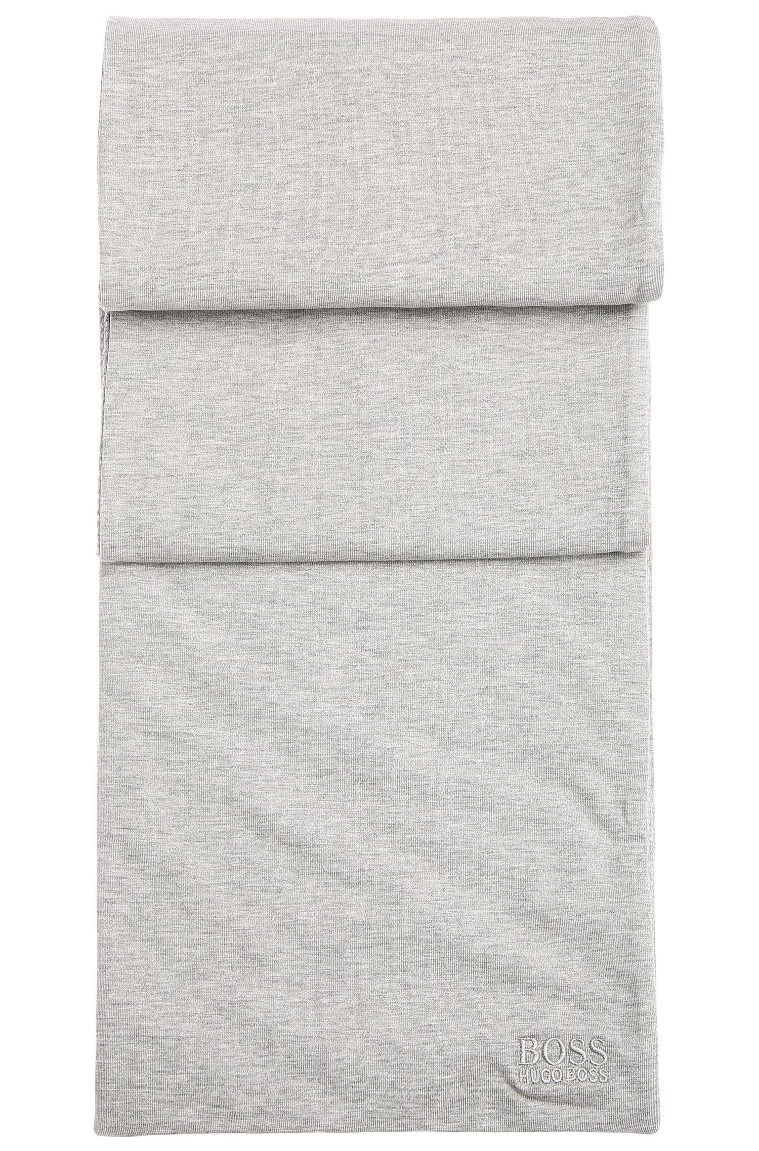 Gemêleerde, tweezijdig te dragen sjaal van elastische katoen met lichte vulling: 'Scarf-Jersey'
