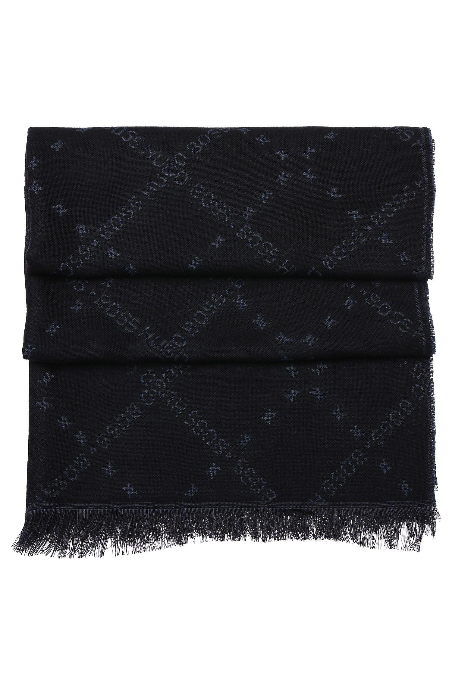 Sjaal met dessin, van een wolmix met modal: 'C-Calso'
