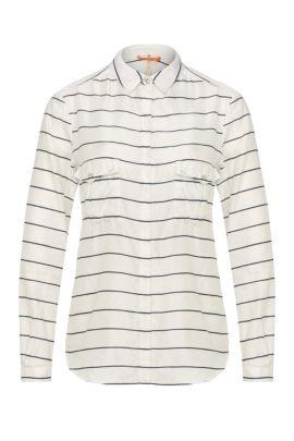Gestreifte Relaxed-Fit Bluse aus Baumwolle und Seide: ´Emilitye_8`, Gemustert