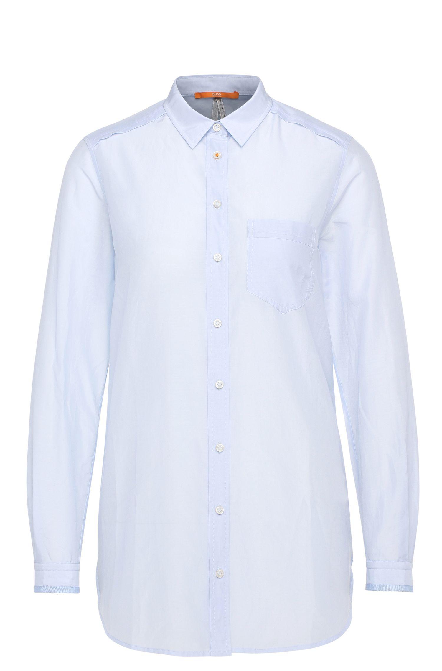Relaxed-Fit Hemdbluse aus Baumwolle mit Seide: ´Chrisler3`