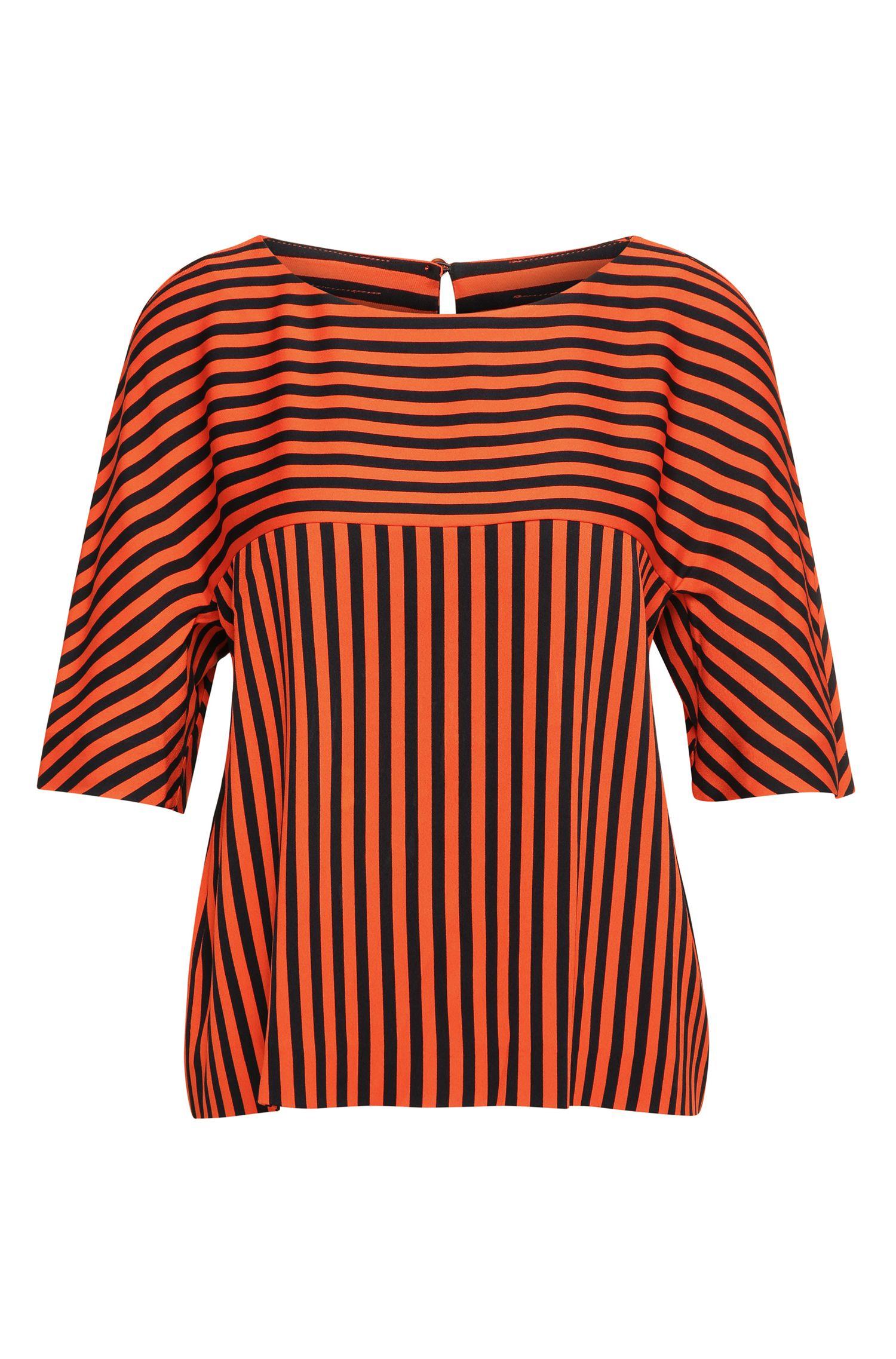 Striped top with half-length sleeves: 'Kariga'