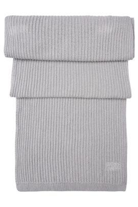 Set de gorro y bufanda en puro algodón: 'Gift-Set', Gris claro
