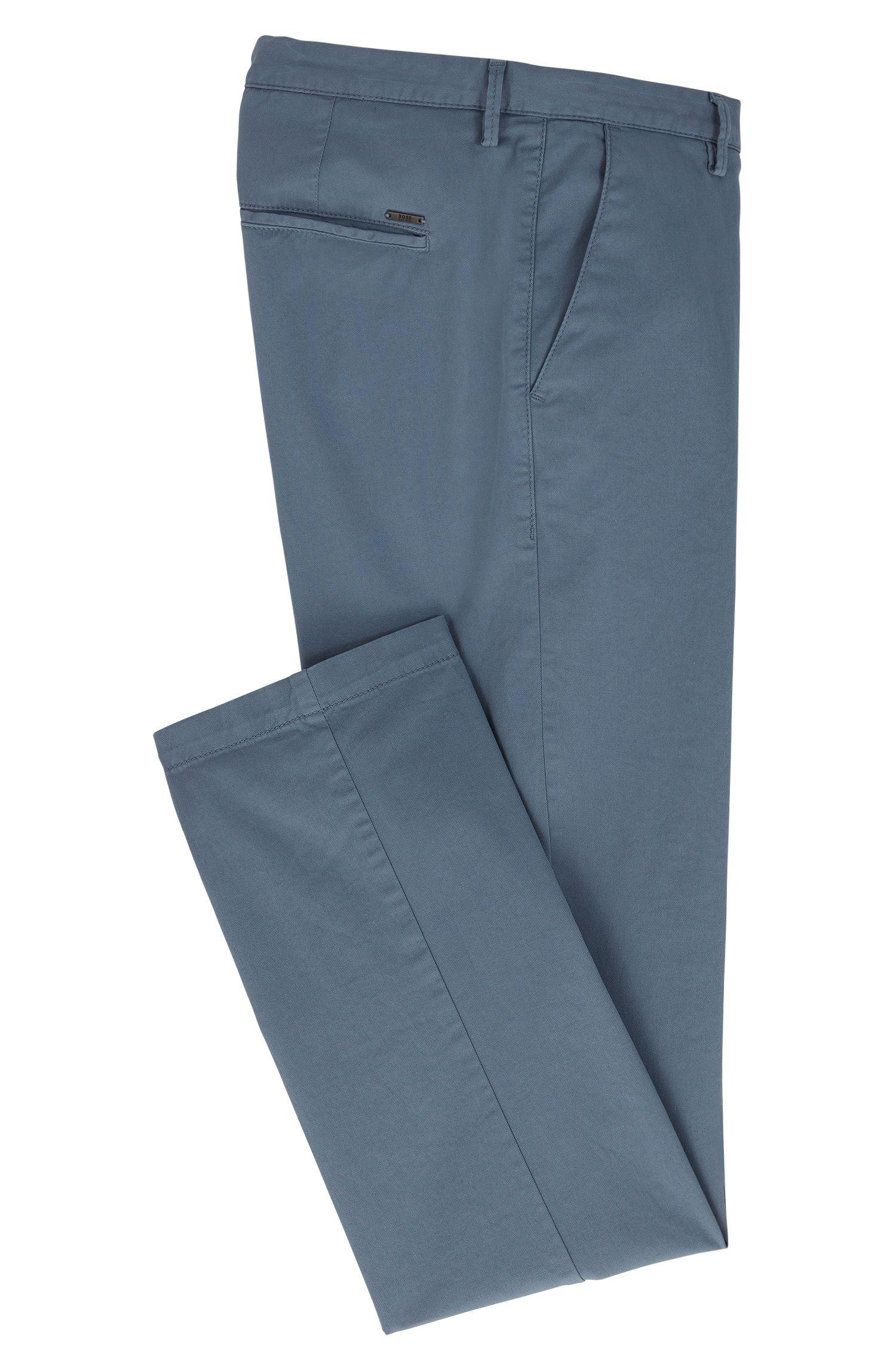 Chinos slim fit en tejido de gabardina de algodón elástico